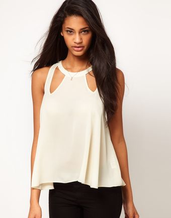 ASOS Collection Asos Swing Top with Cut Out Details - Lyst