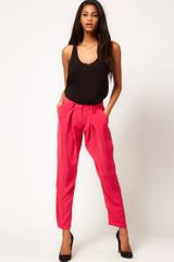 ASOS Collection Asos Peg Trousers with Fluid Front Detail - Lyst