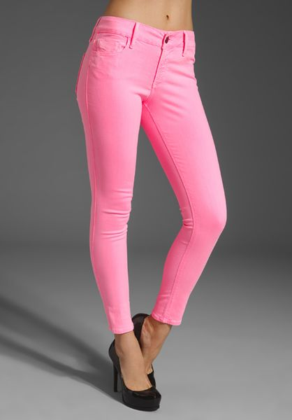 Black Orchid Skinny Denim in Blue (neon pink) - Lyst