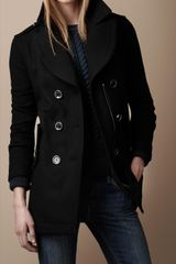 Burberry Brit Heritage Inspired Pea Coat - Lyst