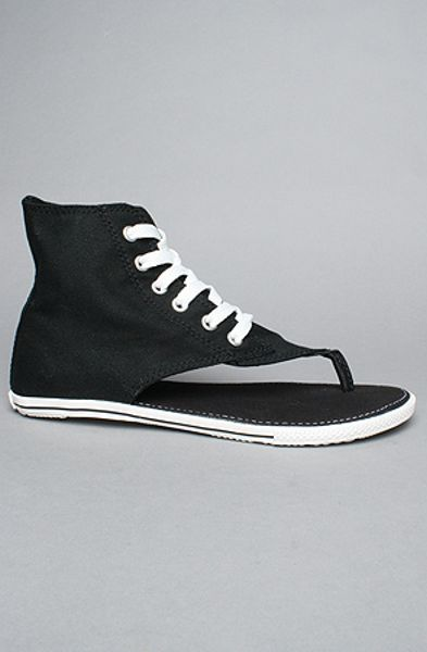 Converse The Chuck Taylor All Star Sandal in Black in Black - Lyst