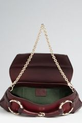 Gucci Cherry Ombre Leather Collection Horsebit Chain Shoulder Bag in Red (cherry) - Lyst