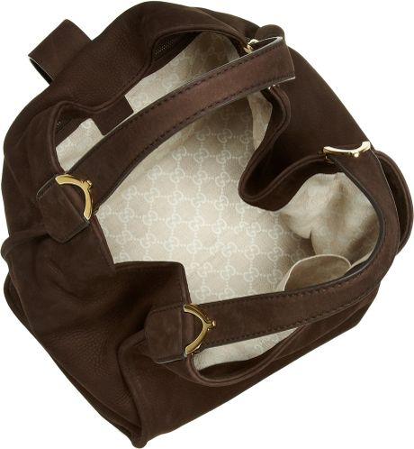 Gucci Soft Stirrup Nubuck Suede Shoulder Bag 62
