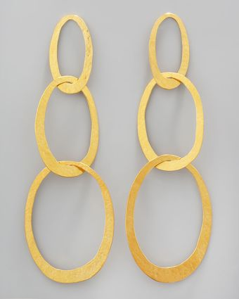 Herve Van Der Straeten Threelink Drop Earrings - Lyst