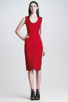 J. Mendel Sleeveless Silk Faille Dress - Lyst