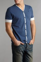 J.c. Rags V Neck Tshirt Cardigan in Blue for Men - Lyst