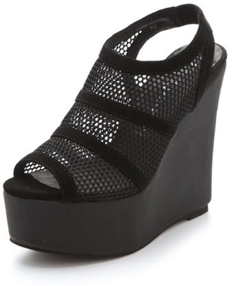 Jeffrey Campbell Mesh Wedges - Lyst