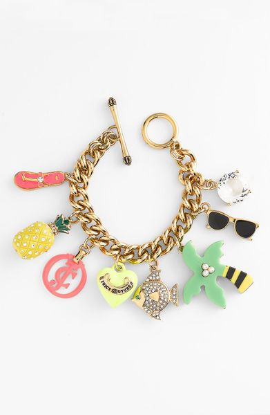 Juicy couture shoreline shades charm bracelet in multicolor beach