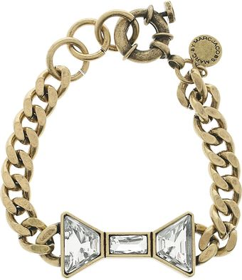 Marc By Marc Jacobs Brass and Crystal Bow Bracelet - Lyst