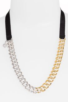Marc By Marc Jacobs Pretty Skinny Turnlock Chain Necklace - Lyst