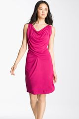 Michael by Michael Kors Draped Jersey Dress - Lyst