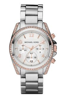 Michael Kors Womens Chronograph Stainless Steel Bracelet 39mm - Lyst