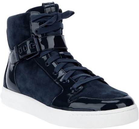 Balmain Hi Top Trainer in Blue for Men (navy)
