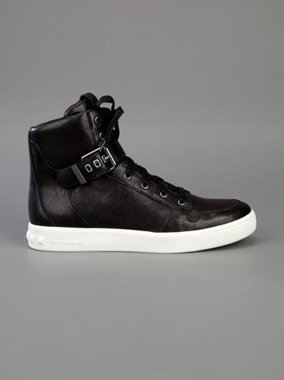 a2ac5a8d112 Balmain Hightop Sneaker in Black for Men - Lyst