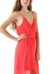 Rory Beca Jones Wrap Gown in Red - Lyst