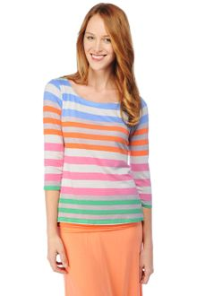 Splendid Tropical Stripe Boat Neck Top - Lyst