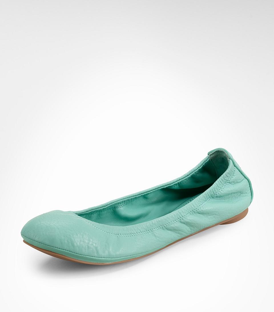 4b83f8dabd49ec Lyst - Tory Burch Eddie Ballet Flats in Green