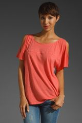 Velvet Cotton Linen Desre Top - Lyst