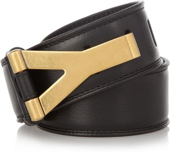 Yves Saint Laurent Chyc Leather Waist Belt - Lyst