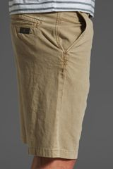 7 For All Mankind Chino Short in Khaki for Men - Lyst