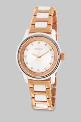 Breil Swarovski Crystal Accented Rose Goldtone Stainless Steel Watch - Lyst
