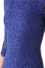 Diane Von Furstenberg New Zarita Lace Dress in Blue - Lyst