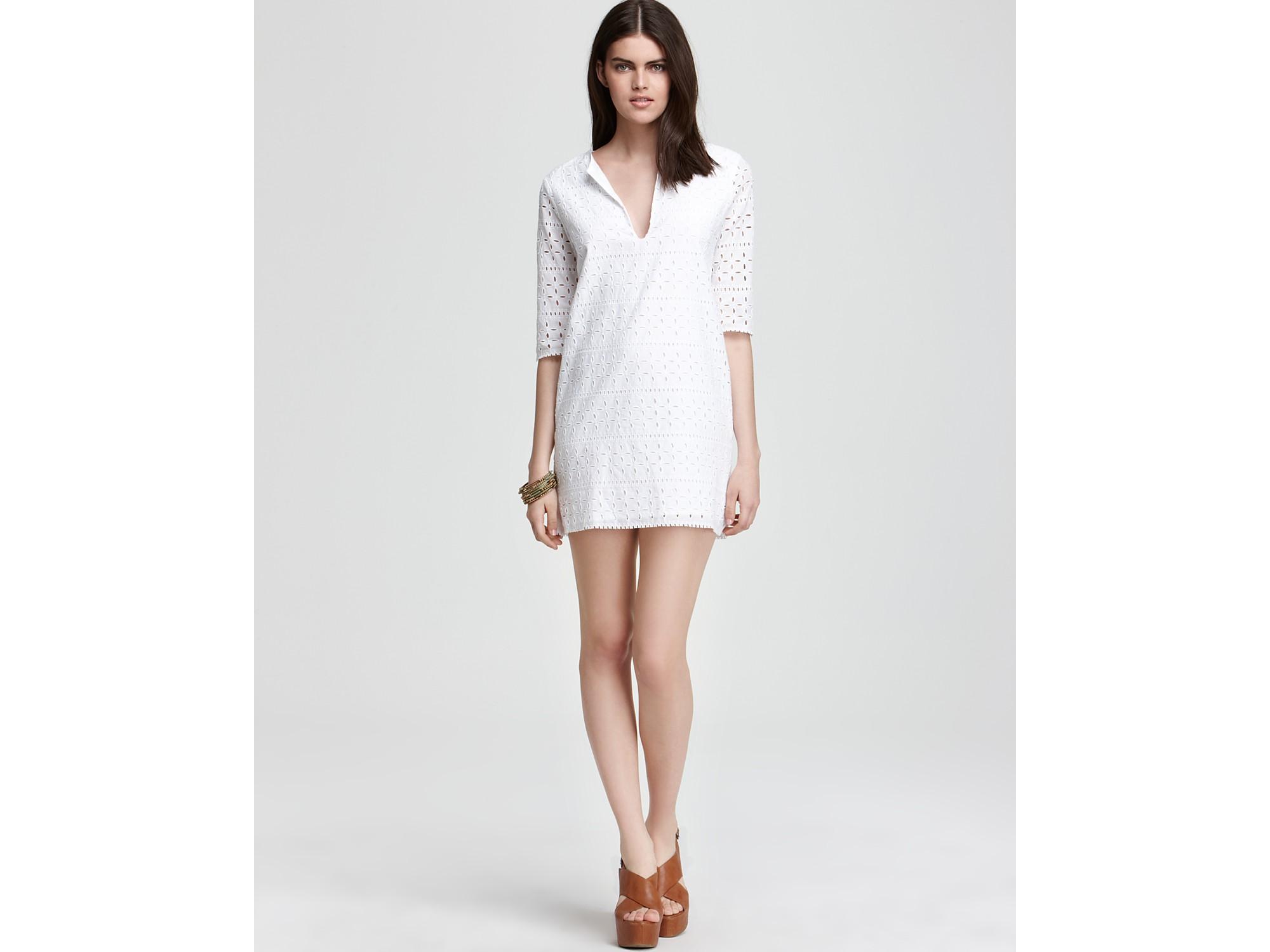 1d16893e56e Short Sleeve Tulle Front Eyelet Dress O Sa Polyvore