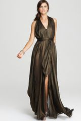 French Connection Lucky Star Metallic Dress - Lyst