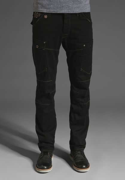 G-star Raw General 3d Tapered Pant in Black for Men - Lyst