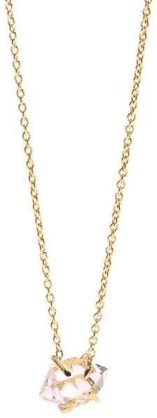 Jacquie Aiche Herkimer Crystal Solitaire Necklace in Gold (yellow) - Lyst