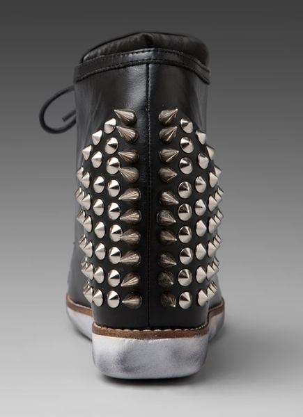 Jeffrey Campbell Edea Spiked Sneaker in Black - Lyst