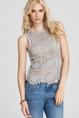 Juicy Couture Sleeveless Crochet Top - Lyst