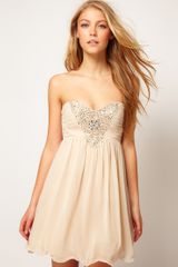 Little Mistress Little Mistress Embellished Bodice Prom Dress - Lyst