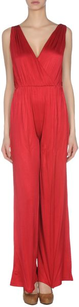 Lucy In Disguise Trouser Dungaree in Red - Lyst