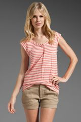 Marc By Marc Jacobs Mae Stripe Jersey Top - Lyst