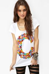 Nasty Gal Jeweled Tee - Lyst