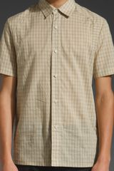 Richard Chai Classic Button Down Shirt in Beige for Men - Lyst