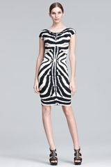 Roberto Cavalli Zebraprint Sheath Dress in Black (black nature) - Lyst