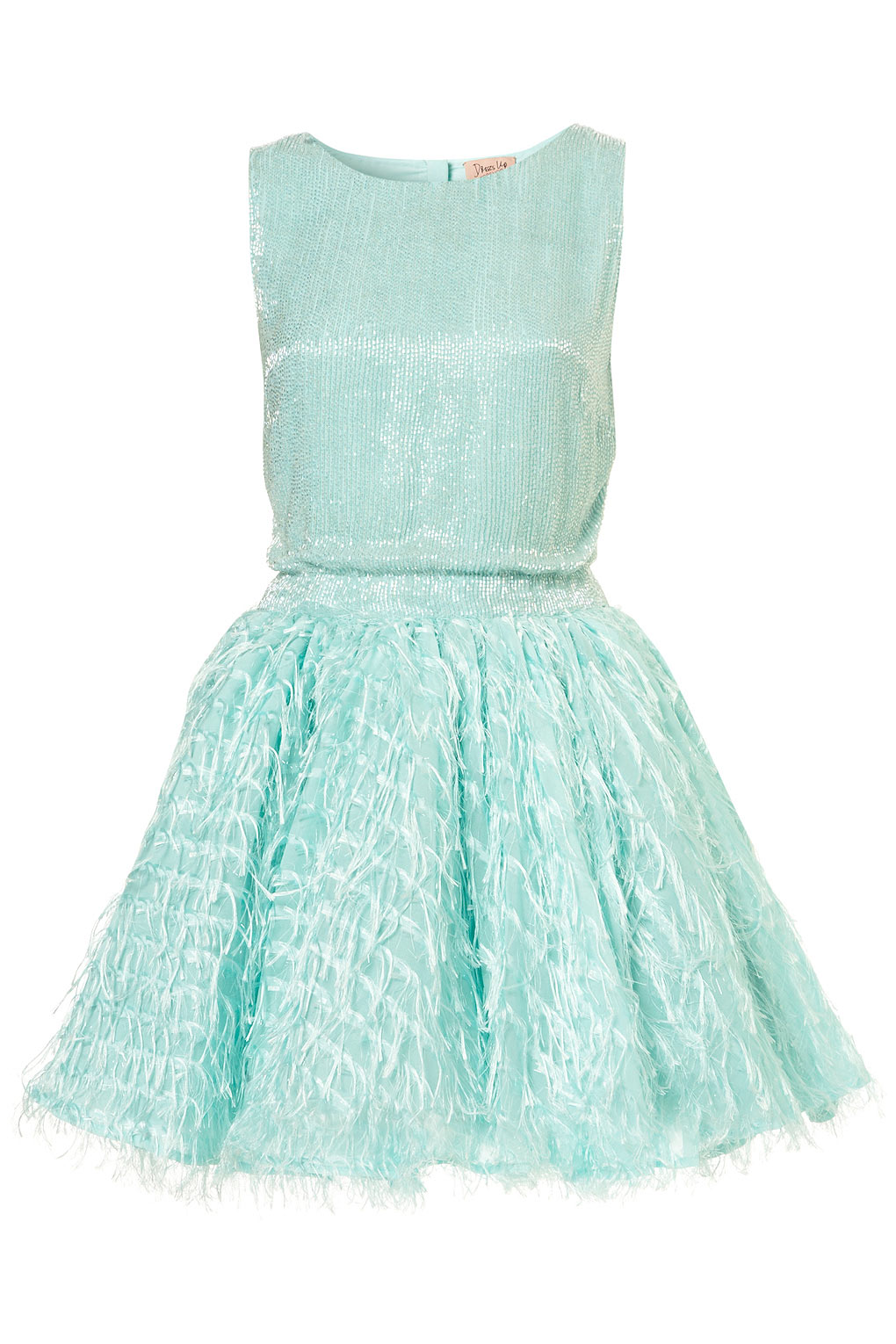 Lyst Topshop Mint Sequin Fringe Dress By Dress Up