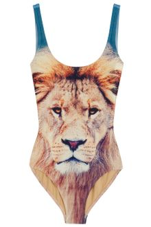 We Are Handsome Lion Print Sccop One Piece - Lyst