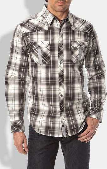 7 Diamonds Night Fever Plaid Sport Shirt - Lyst