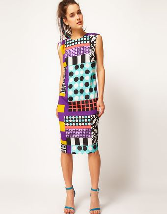 ASOS Collection Asos Midi Dress in Rocco Print - Lyst