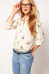 Asos Asos Shirt With Owl Print