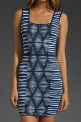 Bcbgmaxazria Printed Tank Dress in Blue (dark ink combo) - Lyst
