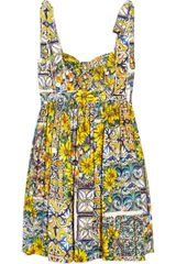 Dolce & Gabbana Floralprint Cotton Dress - Lyst