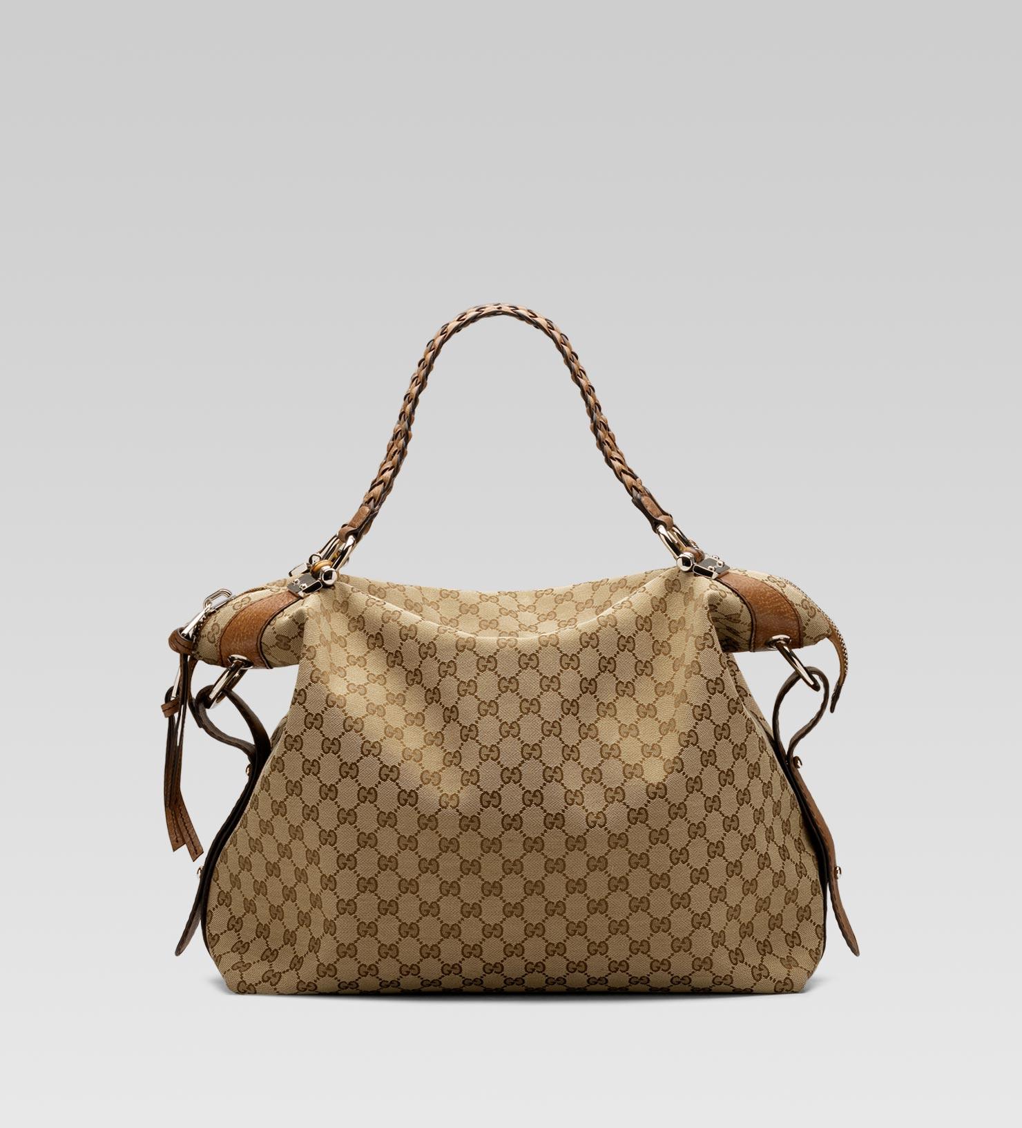 adb757205da1b0 Gucci Bamboo Bar Large Shoulder Bag with Tassels and Bamboo Detail ...