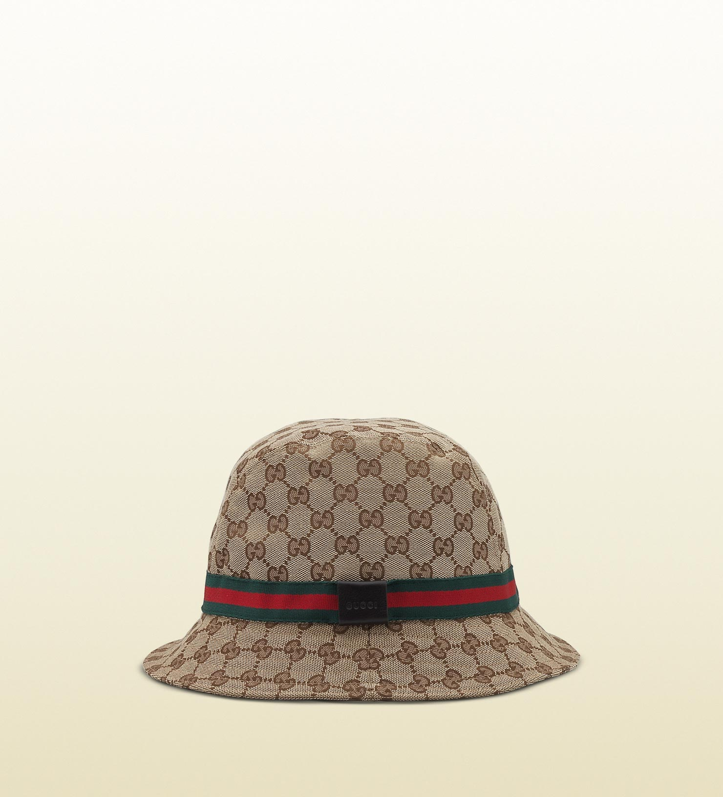 de693dad4afe6 Lyst - Gucci Original Gg Canvas Fedora With Web in Natural for Men