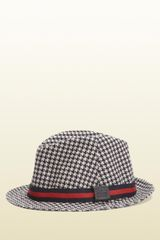 Gucci Fedora with Signature Web Detail - Lyst