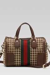 Gucci Seventies Web Boston Bag - Lyst