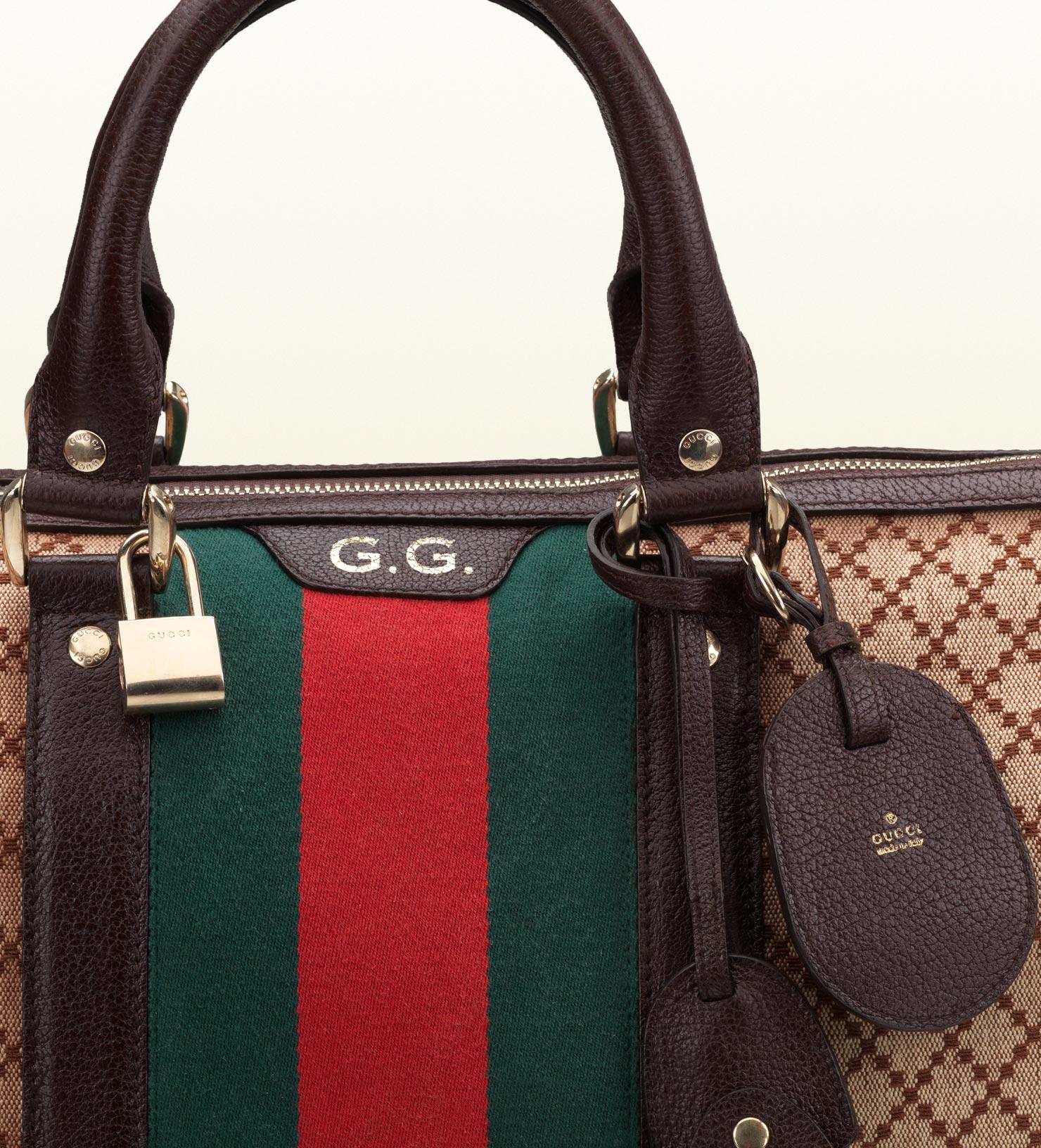 2db03564dbab Gucci Signature Web Diamante Duffle Bag for Men - Lyst